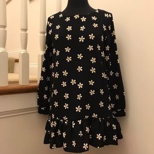 ZARA Daisy Mini Dress Size Medium Long Sleeve